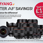 Samyang AF Lenses Instant Savings