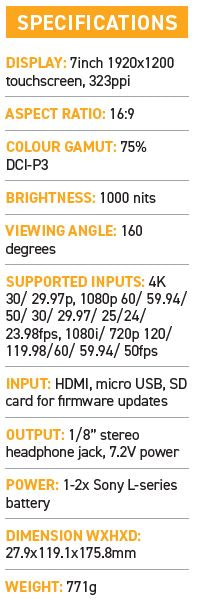 Small HD Focus 7 monitor