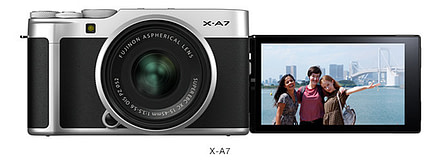"Fujifilm introduces the stylish ""FUJIFILM X-A7"" with new image sensor"