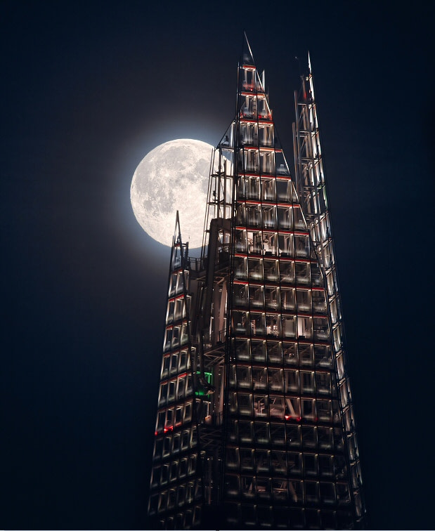 The Moon and the Shard © Mathew Browne (UK)