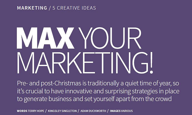 Max Your Marketing – 5 Creative Ideas