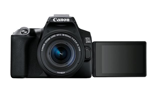 Canon EOS 250D, the world's lightest DSLR with a moveable screen