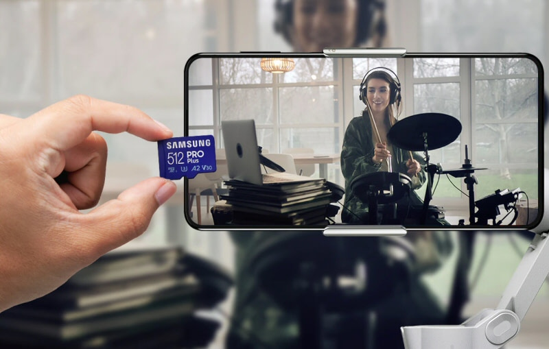 Samsung Introduces Fast durable PRO Plus and Enhanced EVO Plus microSD Cards