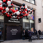 Eager shoppers queue for opening of Fujifilm's flagship UK store